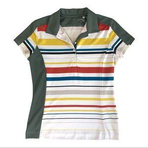 Callaway Striped Short Sleeve Golf Shirt